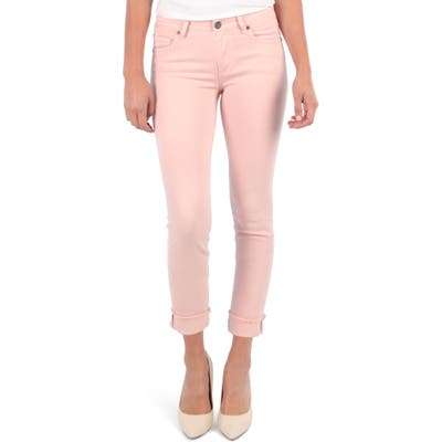 Kut From The Kloth Amy Crop Straight Leg Jeans, Pink