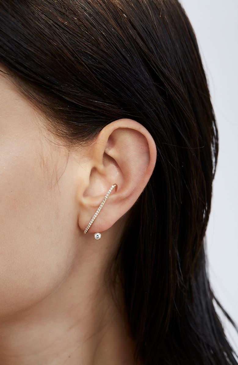 KATKIM Crescendo Flare Diamond Earring, Main, color, 040
