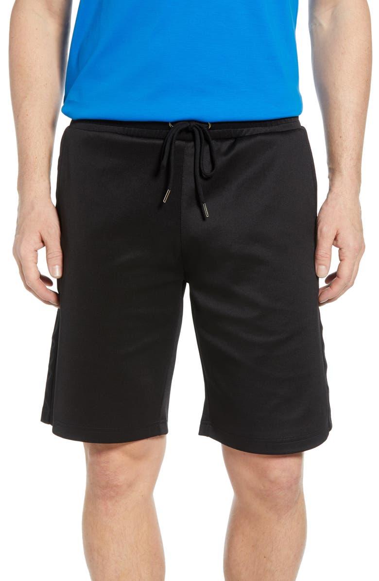 BUGATCHI Jogger Shorts, Main, color, BLACK