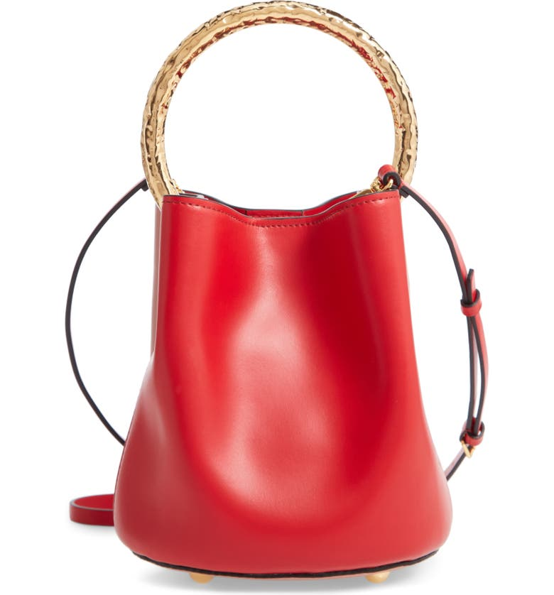 Marni Two Tone Leather Hammered Top Handle Bag