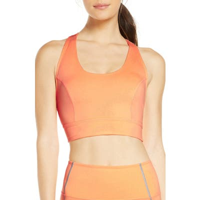 Free People Fp Movement Lightning Synergy Sports Bra, Coral