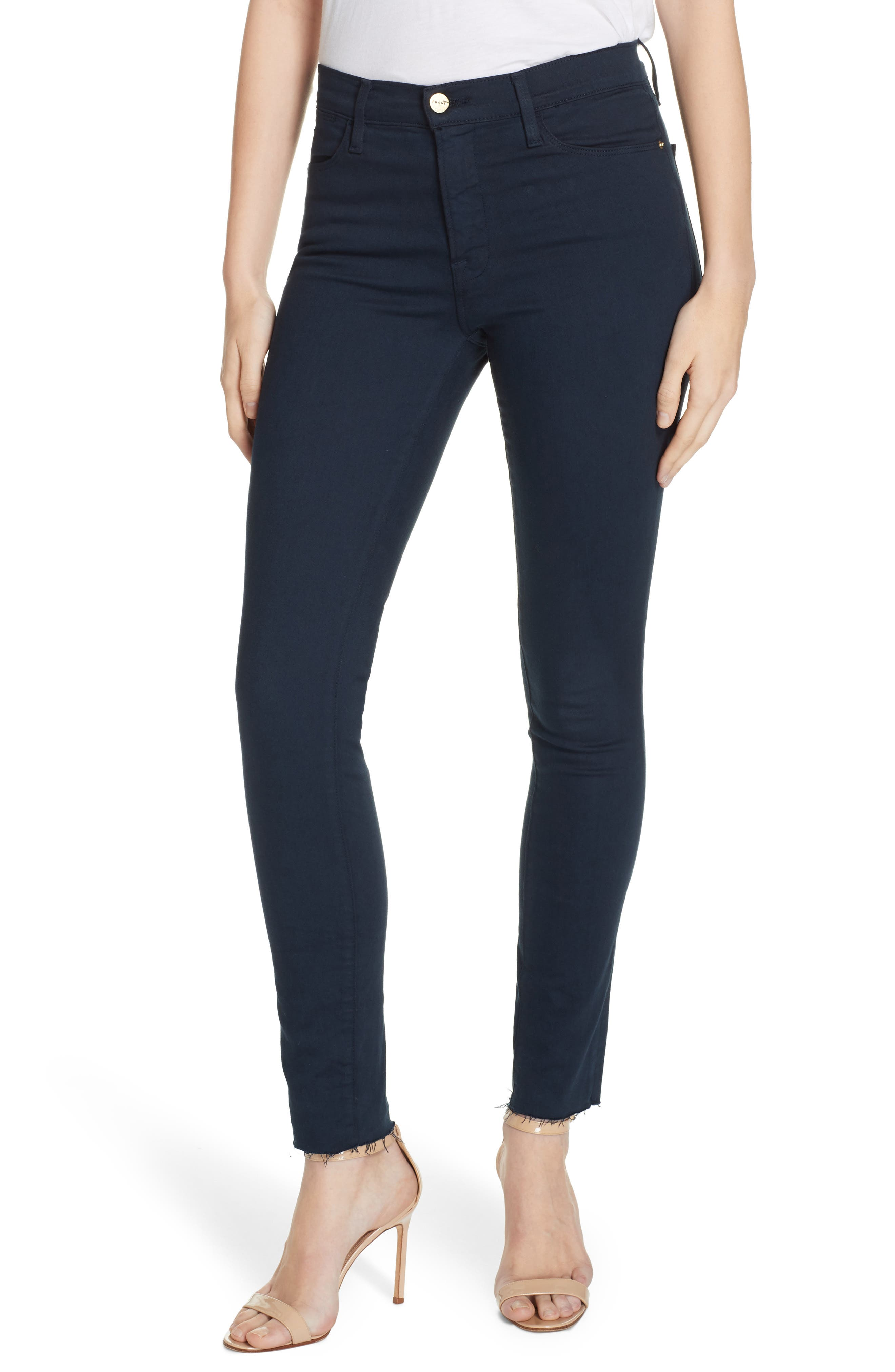 ,                             Le High Raw Hem Ankle Skinny Jeans,                             Main thumbnail 20, color,                             410