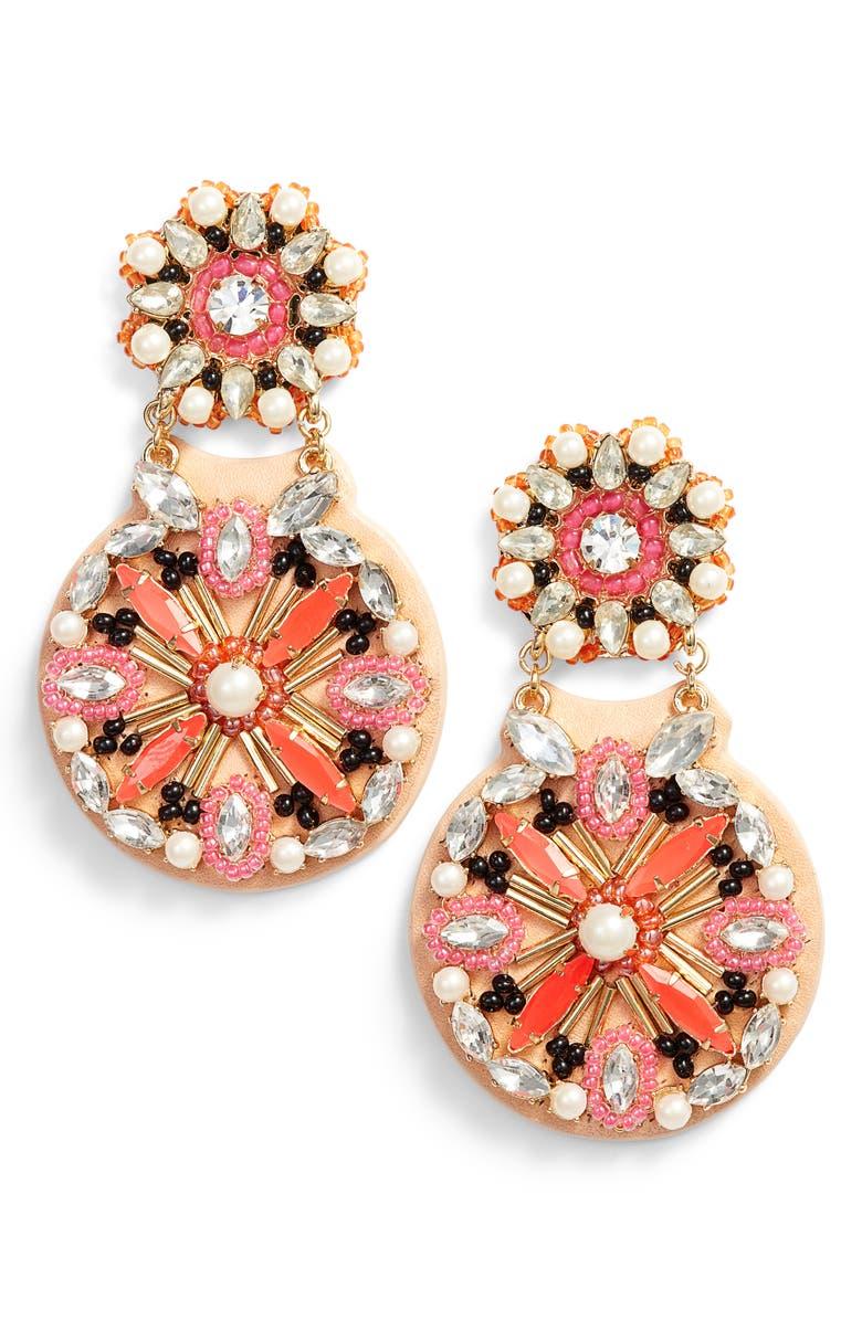 KATE SPADE NEW YORK desert garden drop earrings, Main, color, 001