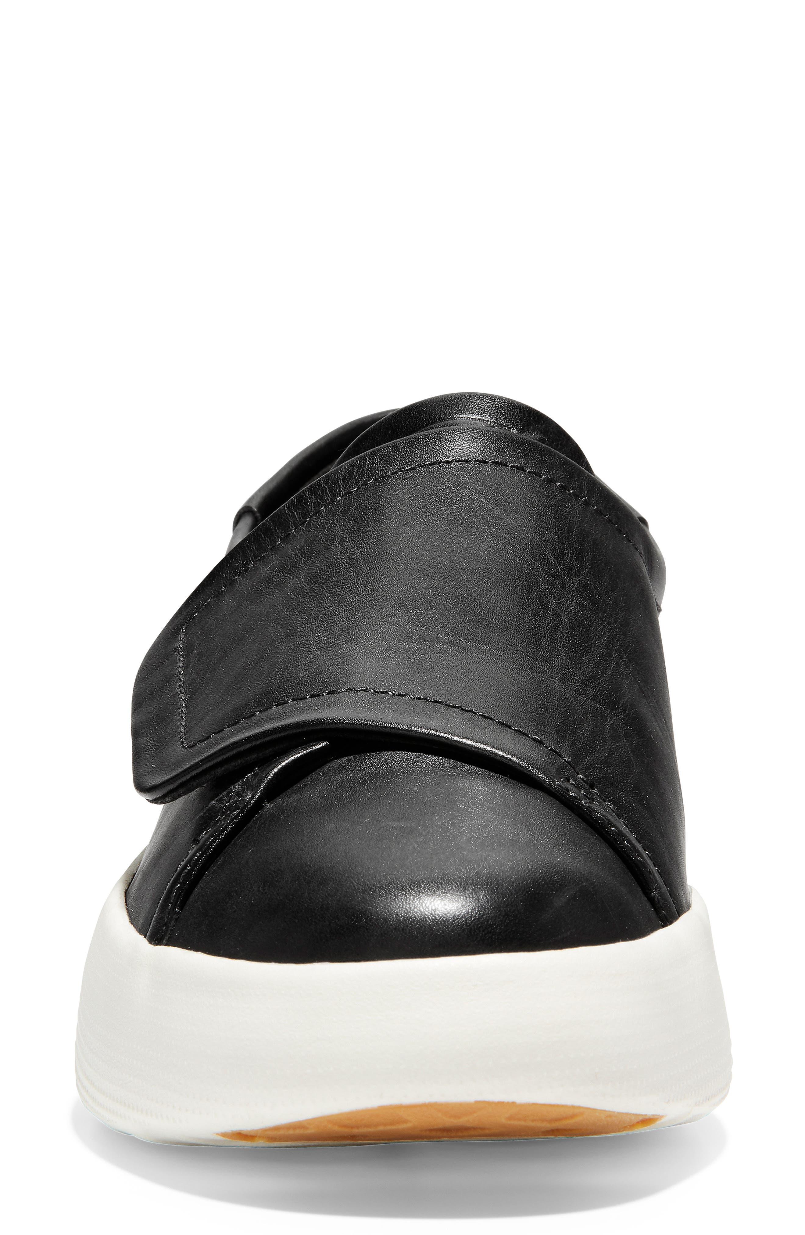 ,                             GrandPro Flatform Sneaker,                             Alternate thumbnail 4, color,                             BLACK LEATHER