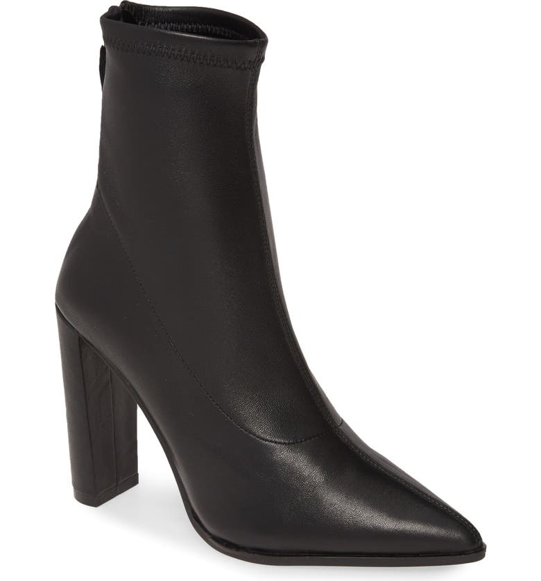 ALIAS MAE Blink Bootie, Main, color, BLACK STRETCH LEATHER