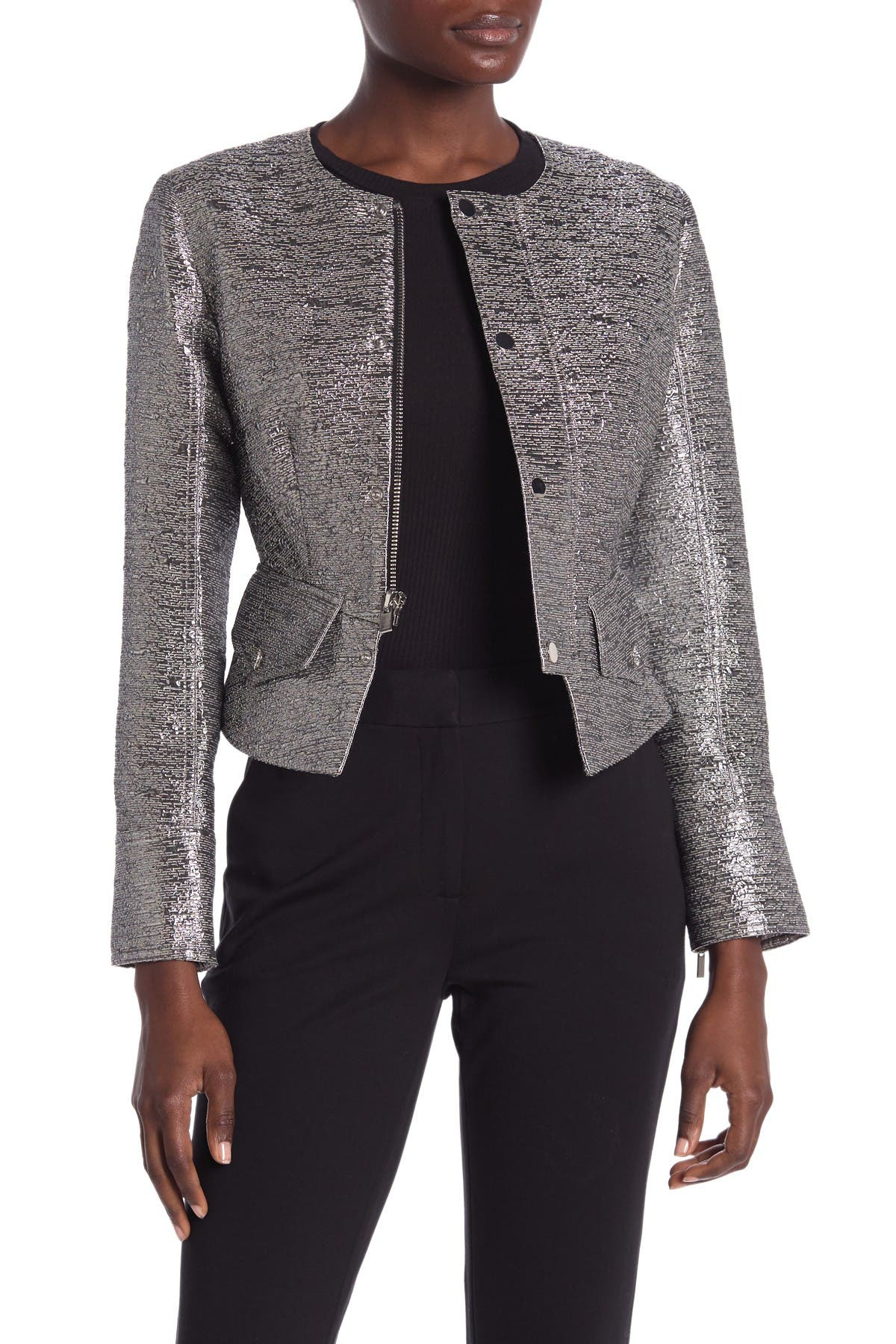 Image of Diane von Furstenberg Verena Metallic Jacket
