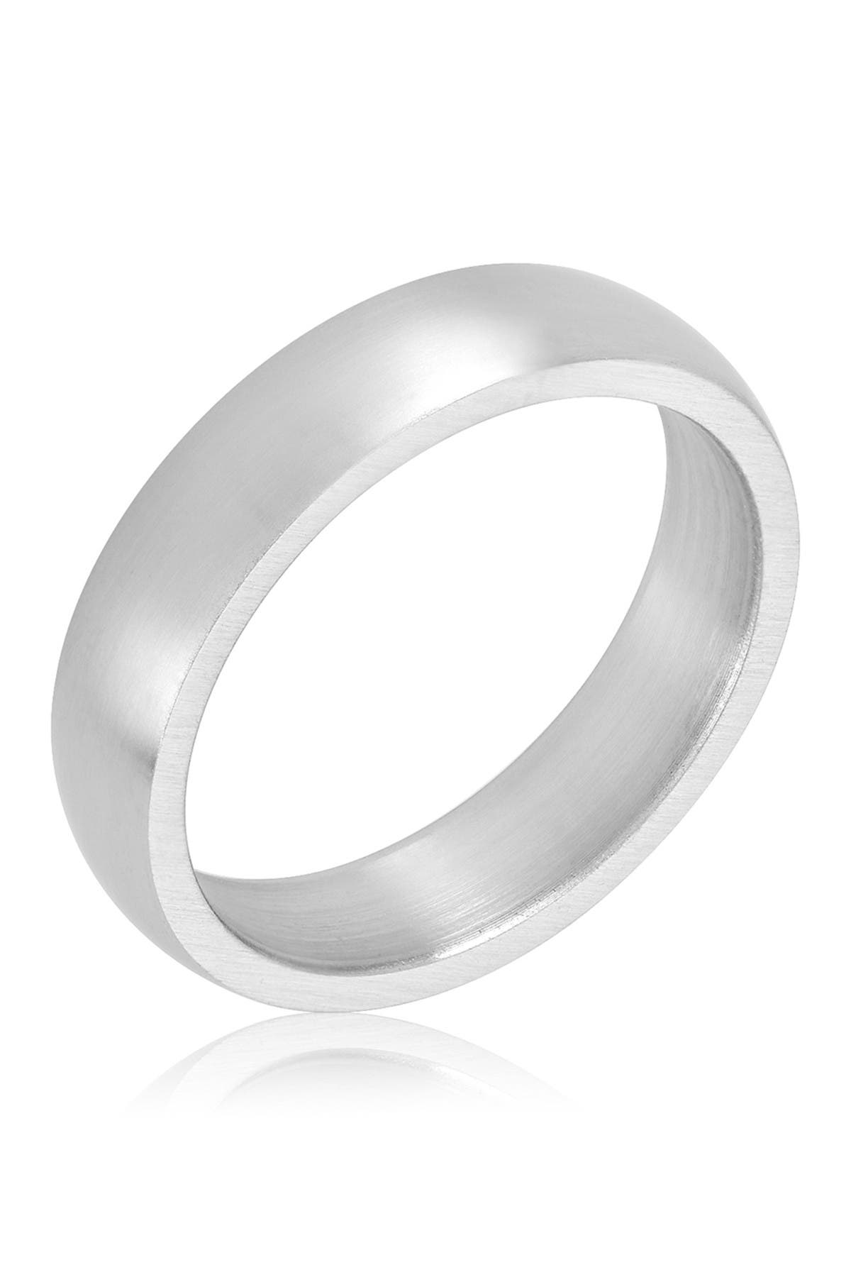 ADORNIA Classic Matte Silver Band Eternity Ring