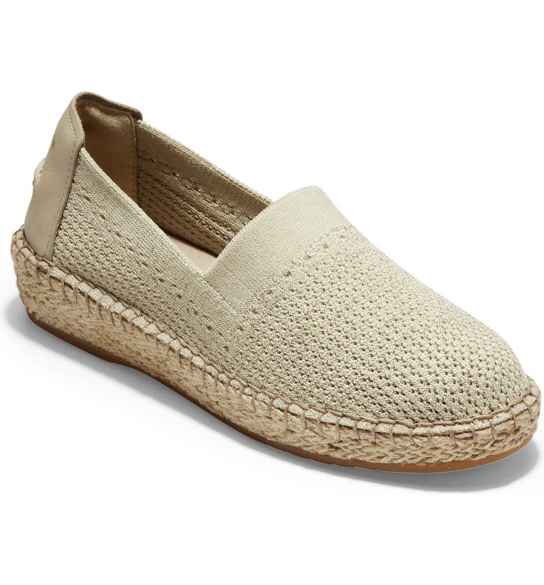 COLE HAAN Cloudfeel Stitchlite Espadrille, Main, color, HAWTHORNE AND GOLD FABRIC