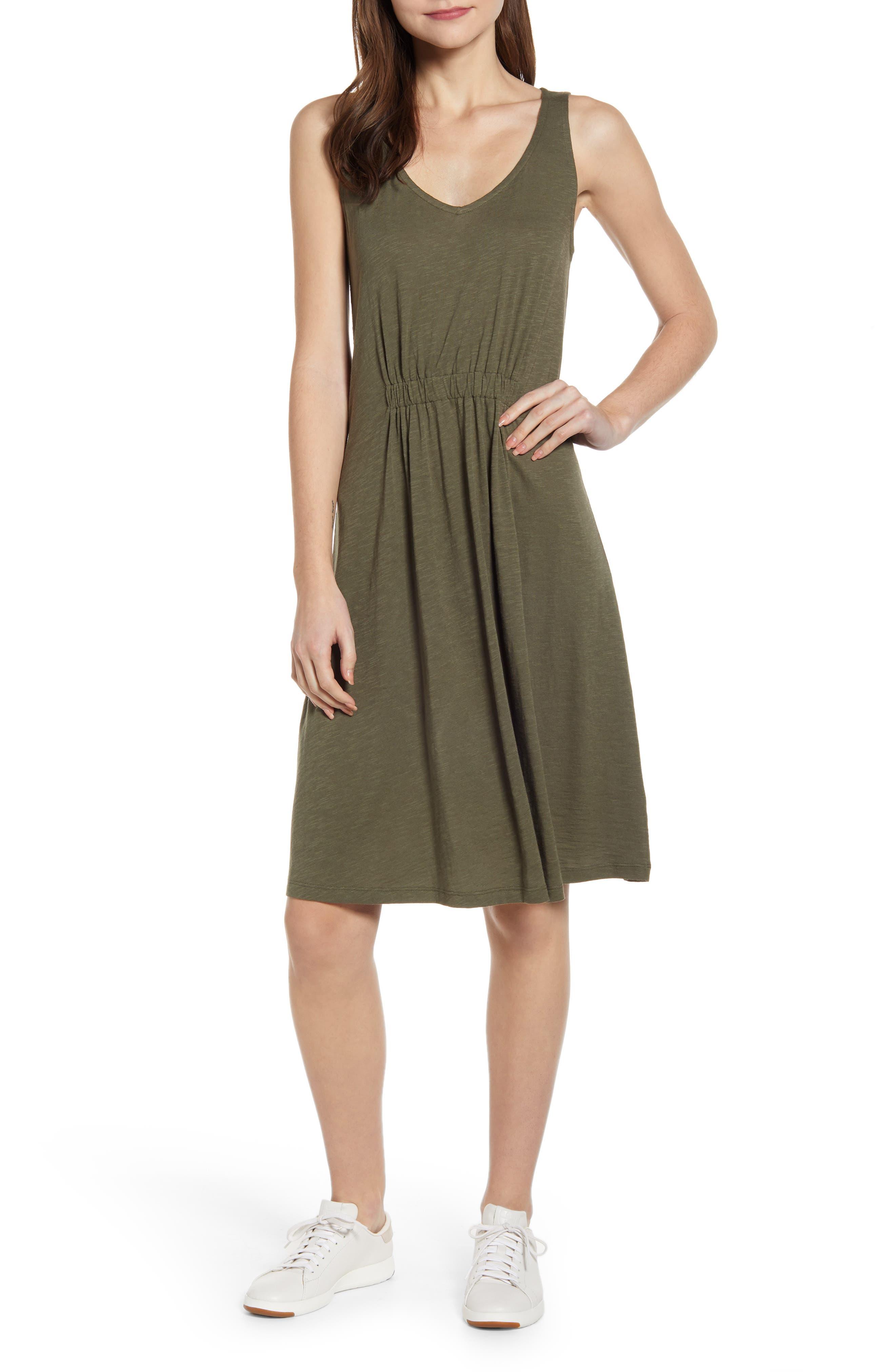 Caslon Sleeveless Knit Dress, Green
