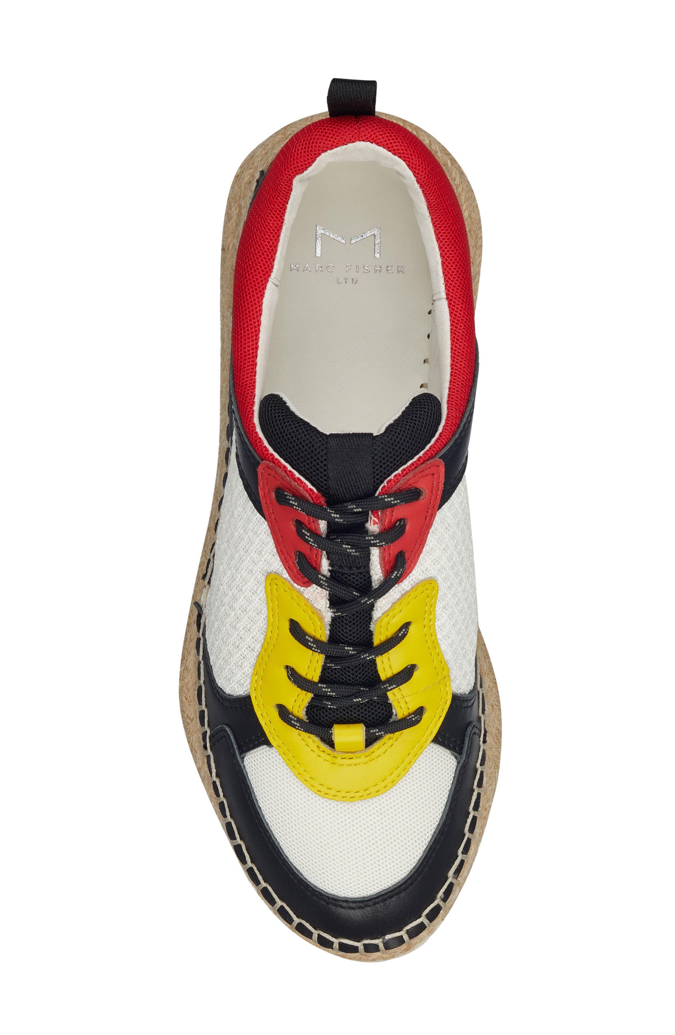 ,                             Janette Espadrille Sneaker,                             Alternate thumbnail 5, color,                             001