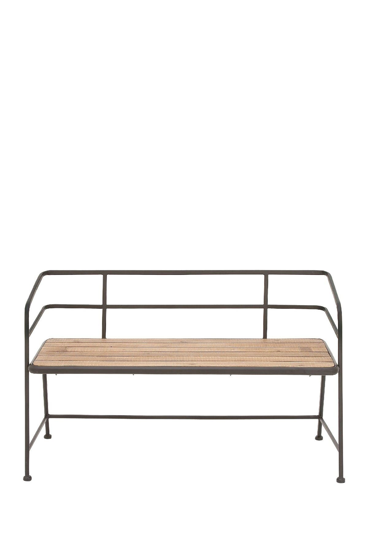 Image of Willow Row Black/Brown Industrial Cozy Bench