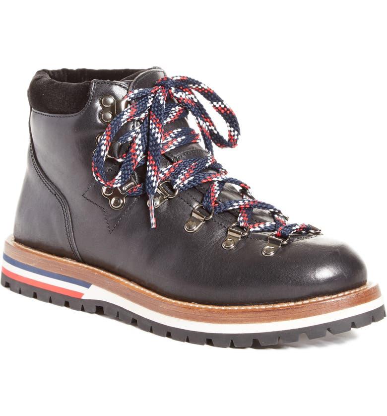 MONCLER Blanche Lace-up Boot, Main, color, BLACK