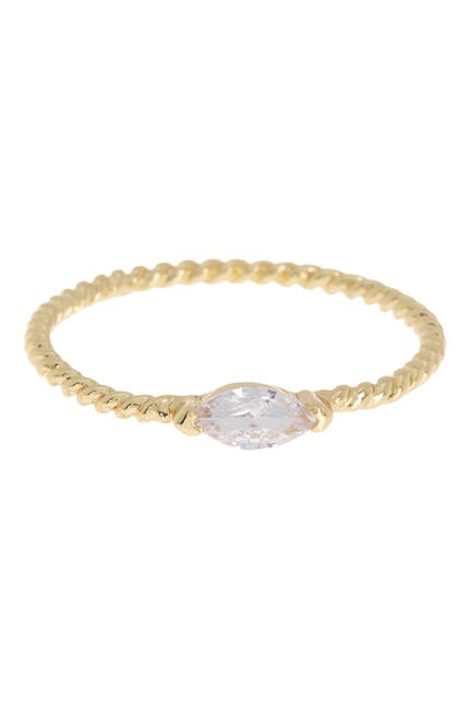 Image of Covet Delicate Marquise Twisted Band Stackable Ring