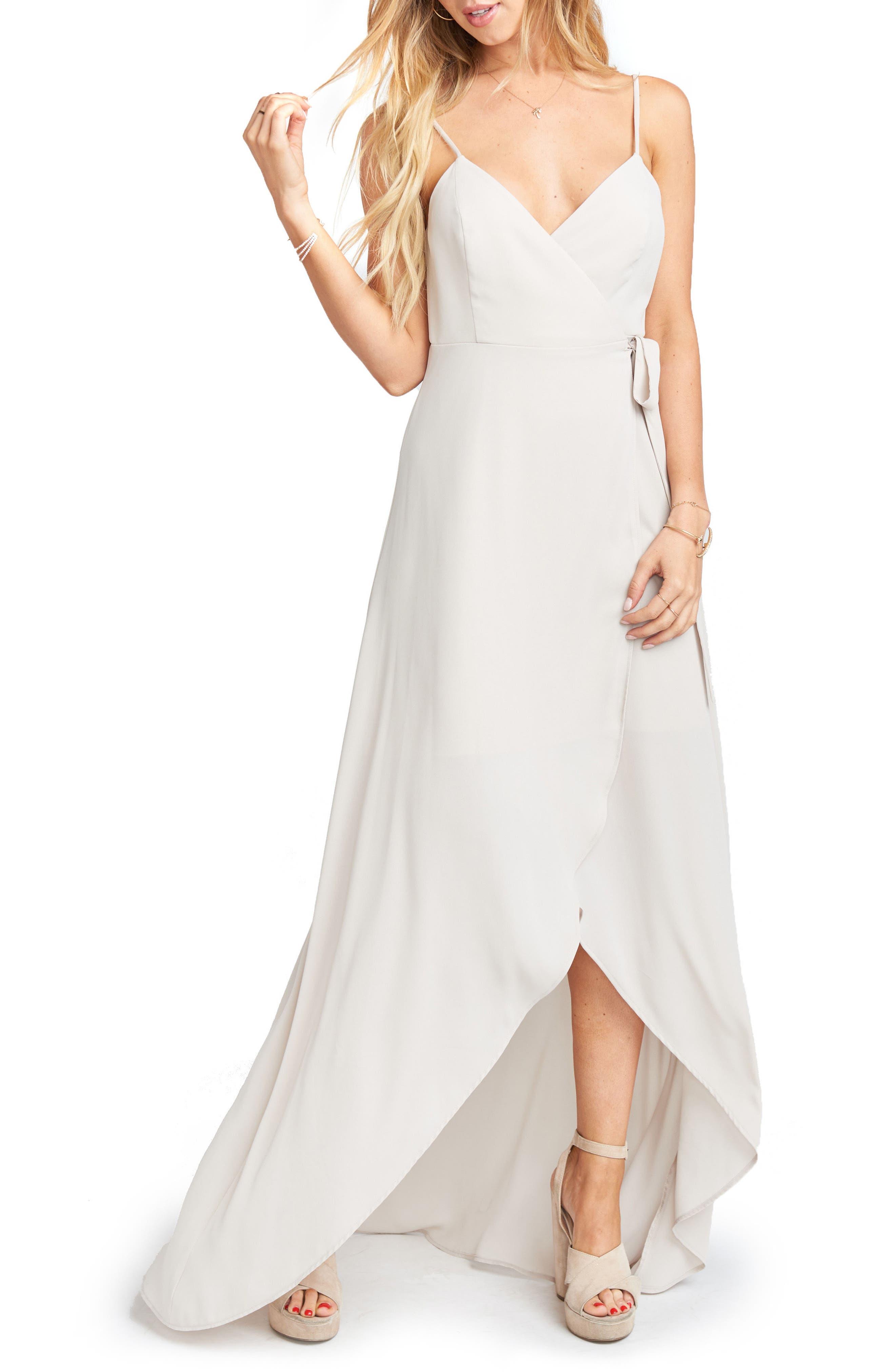 Show Me Your Mumu Mariah Wrap Maxi Dress, Beige