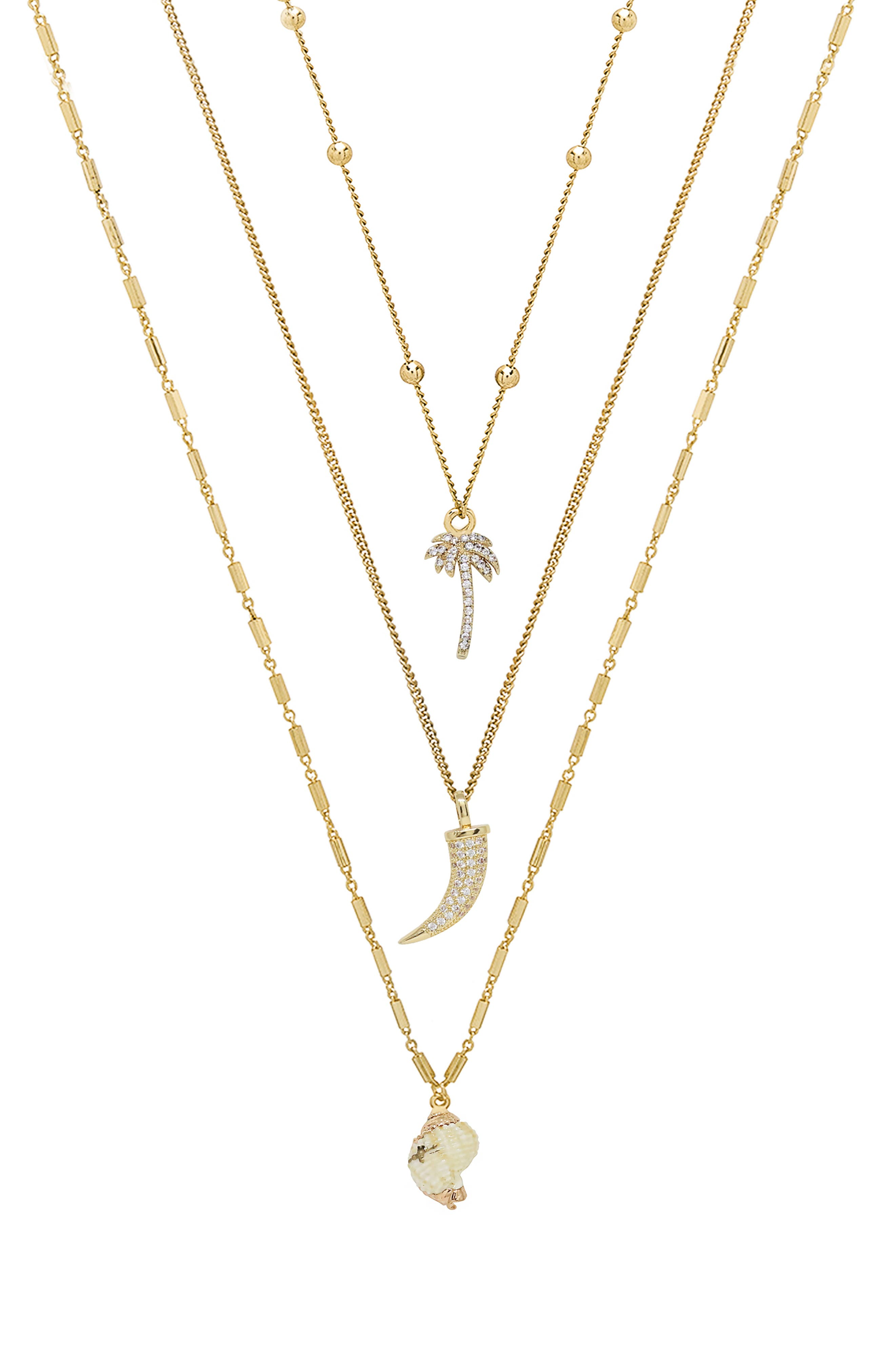 Set Of 3 Tropical Necklaces