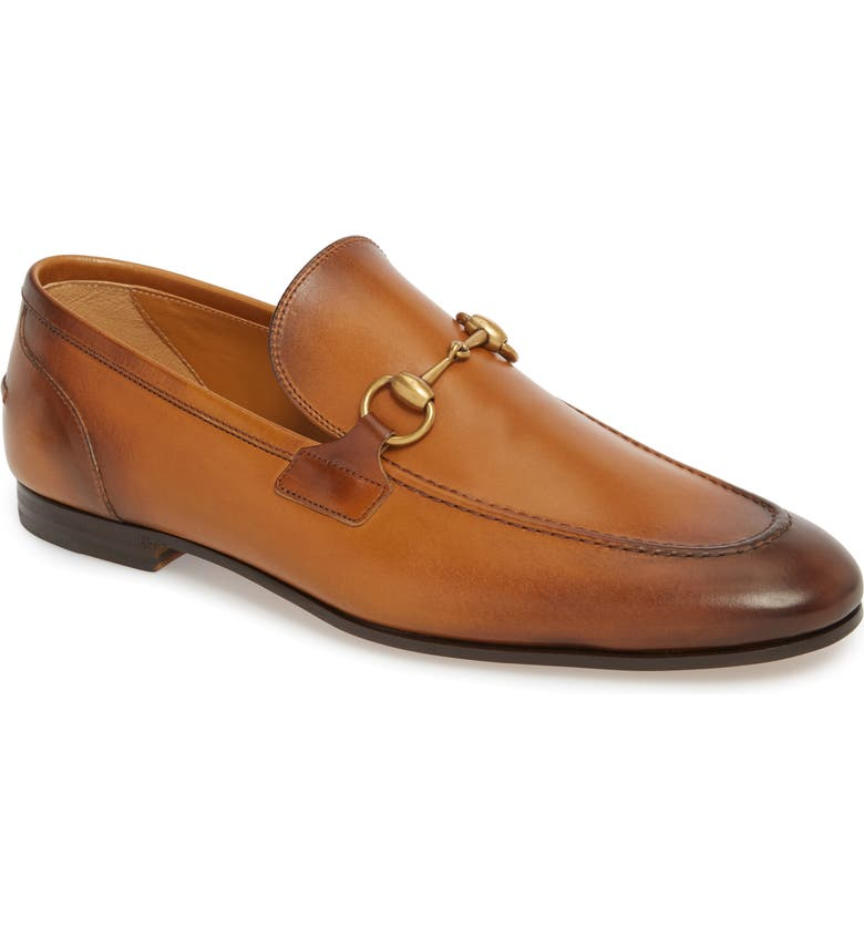 GUCCI Jordaan Bit Loafer, Main, color, BROWN