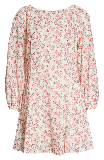 Rebecca Taylor IKAT FLEUR LONG SLEEVE COTTON A-LINE DRESS