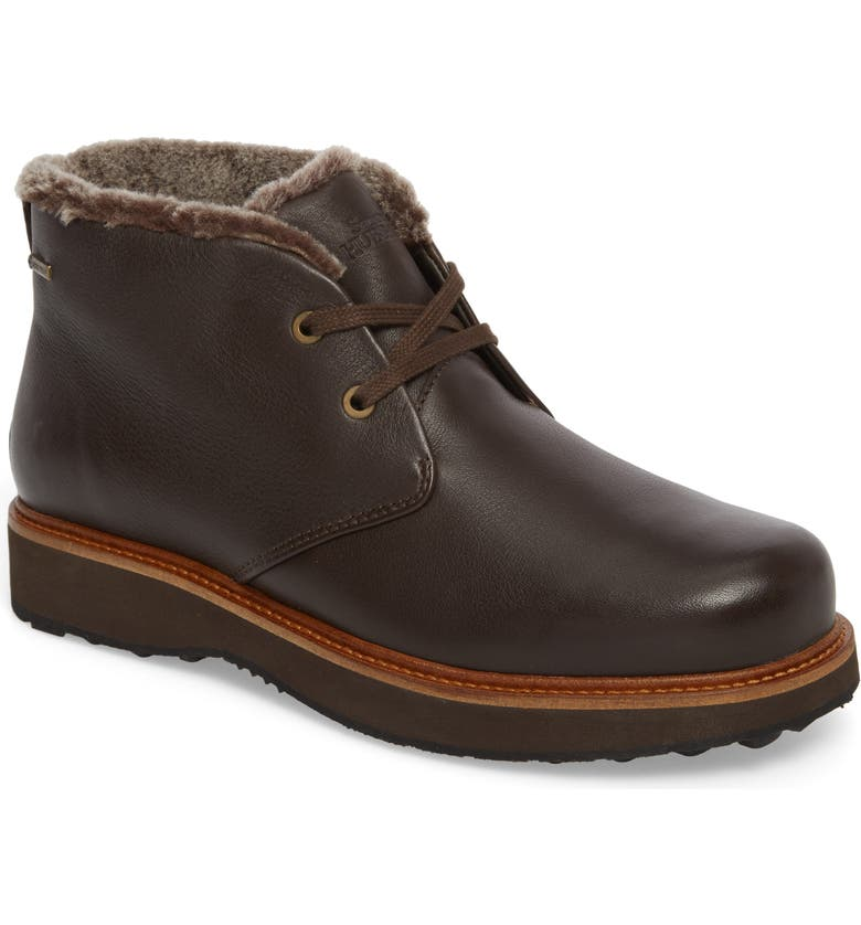 SAMUEL HUBBARD Winter's Day Waterproof Gore-Tex<sup>®</sup> Genuine Shearling Lined Chukka Boot, Main, color, ESPRESSO BROWN LEATHER