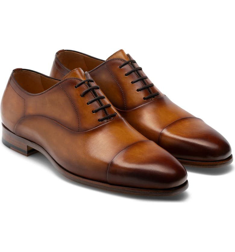MAGNANNI Segovia Cap Toe Oxford, Main, color, CURRI