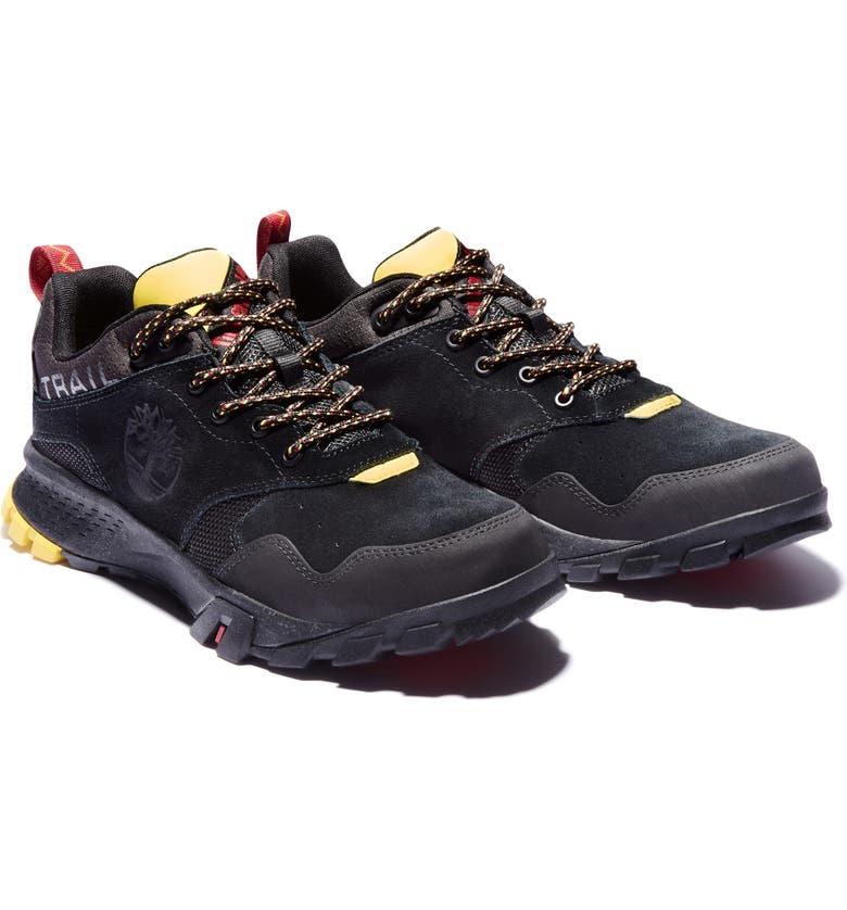 TIMBERLAND Garrison Trail Waterproof Hiking Shoe, Main, color, BLACK SUEDE