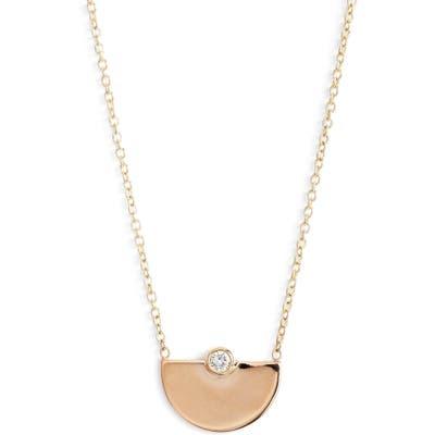 Zoe Chicco Horizon Diamond Pendant Necklace