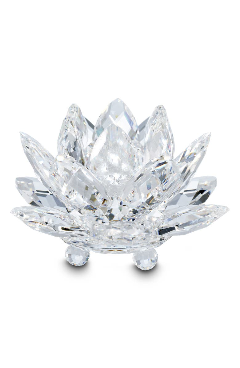 SWAROVSKI Water Lily Crystal Candleholder, Main, color, CLEAR