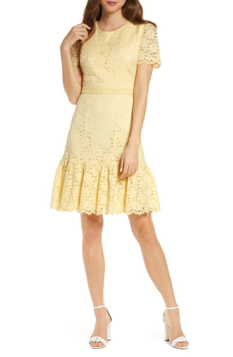 RACHEL PARCELL Lace Minidress, Main, color, 740