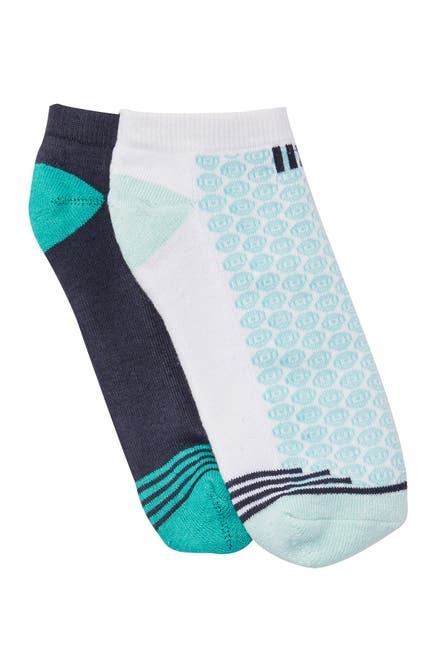 Image of Natori Geo Striped Half Cushioned No Show Socks - Pack of 2