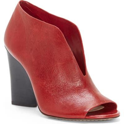 Vince Camuto Andrita Open Toe Bootie- Red