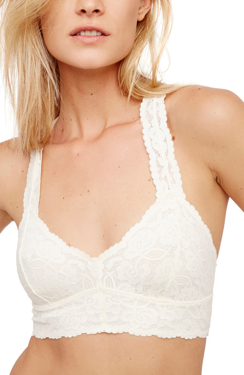 FREE PEOPLE Intimately FP Lace Racerback Bralette, Main, color, IVORY
