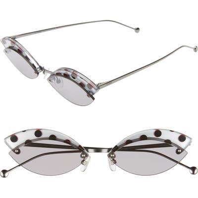 Fendi Defender 5m Cat Eye Sunglasses - Silver/ Grey