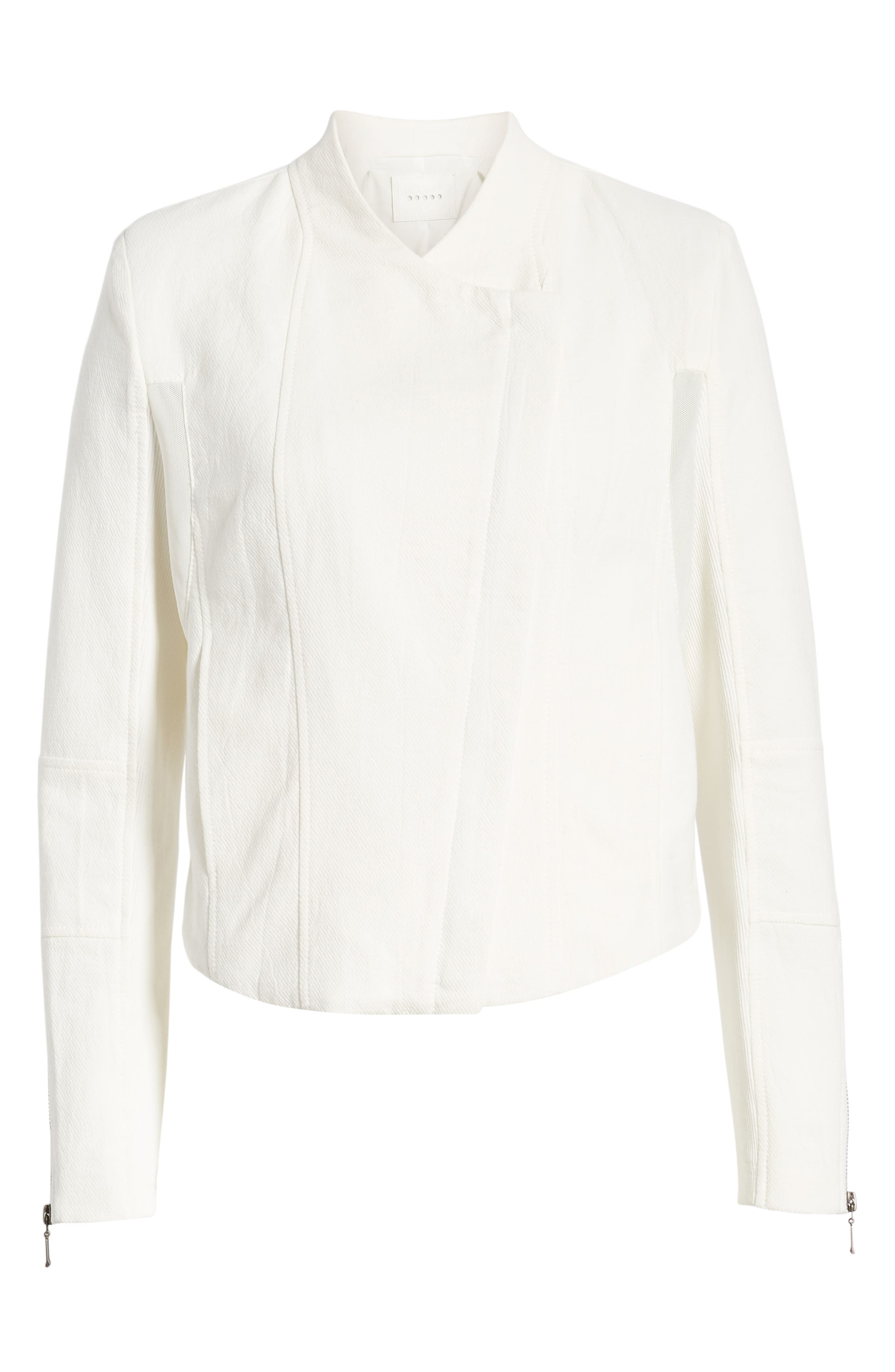 ,                             Mesh Detail Crepe Jacket,                             Alternate thumbnail 7, color,                             WINDY CITY