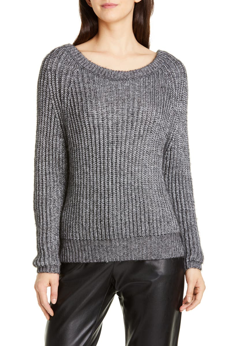 SEVENTY Shaker Stitch Sweater, Main, color, 020