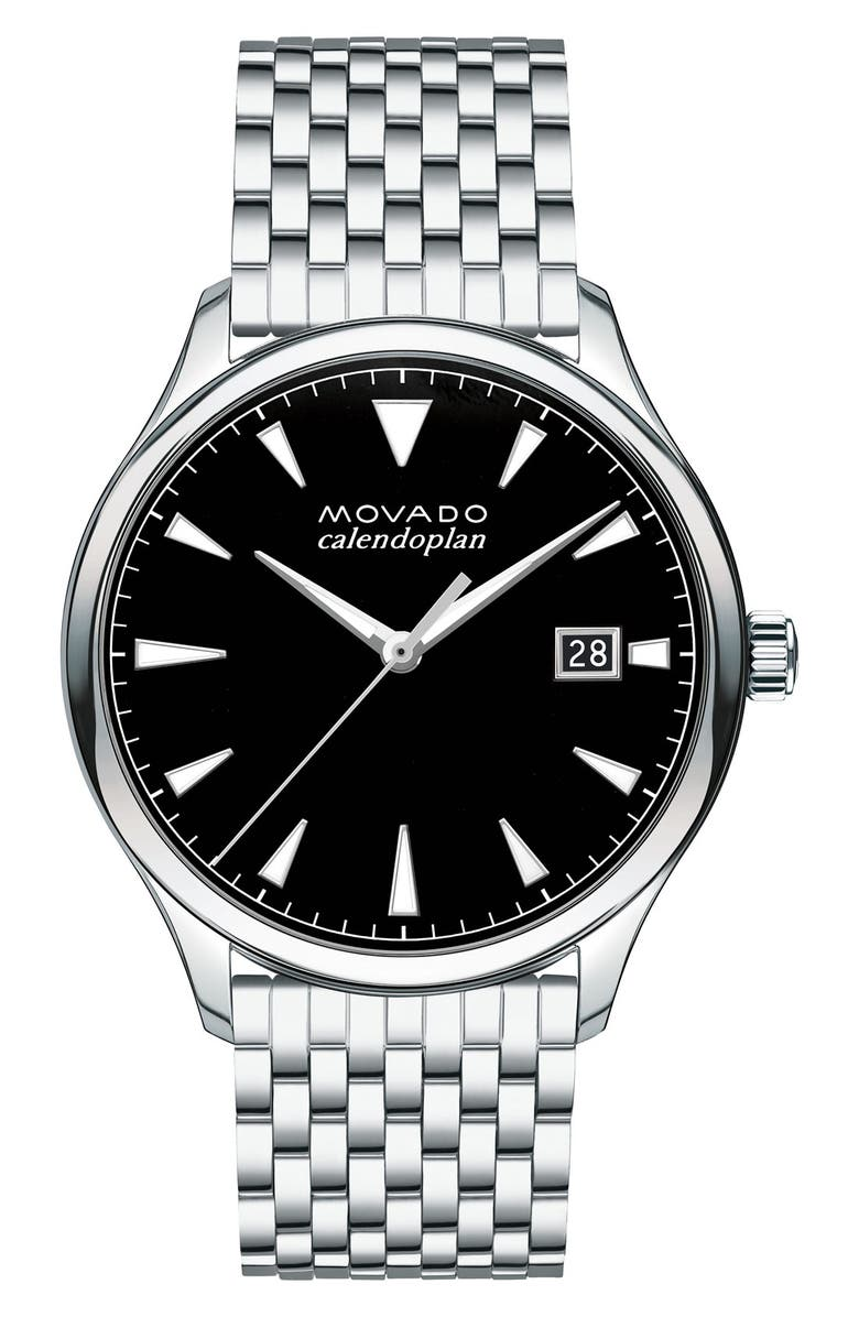 MOVADO Heritage Calendoplan Bracelet Watch, 40mm, Main, color, 040