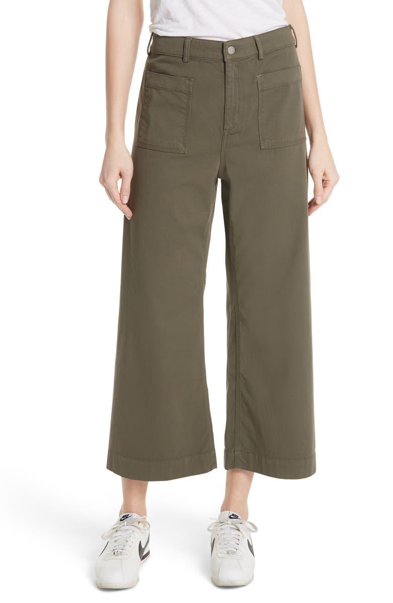 A.L.C. Finley Wide Leg Crop Pants, Main, color, 301