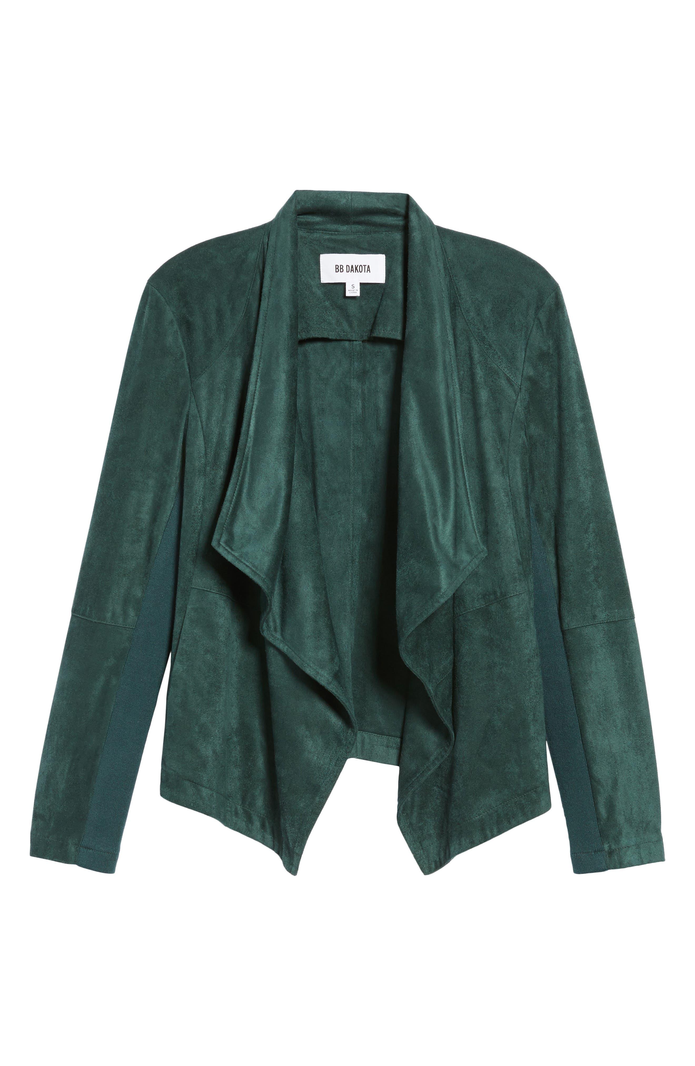 ,                             Nicholson Faux Suede Drape Front Jacket,                             Alternate thumbnail 45, color,                             301