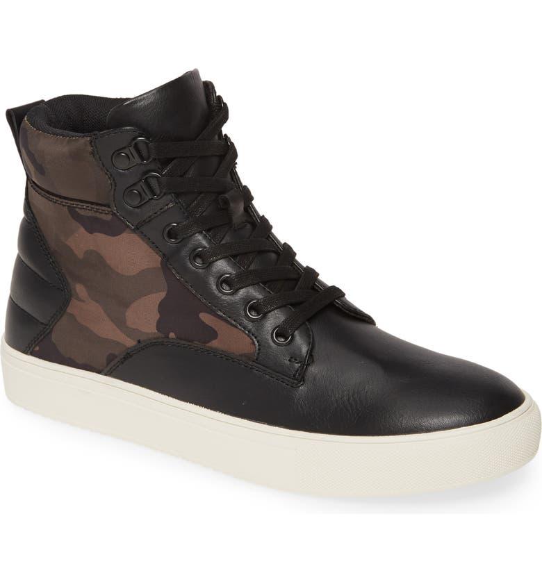 BP. Cade High-Top Sneaker, Main, color, BLACK/ CAMO