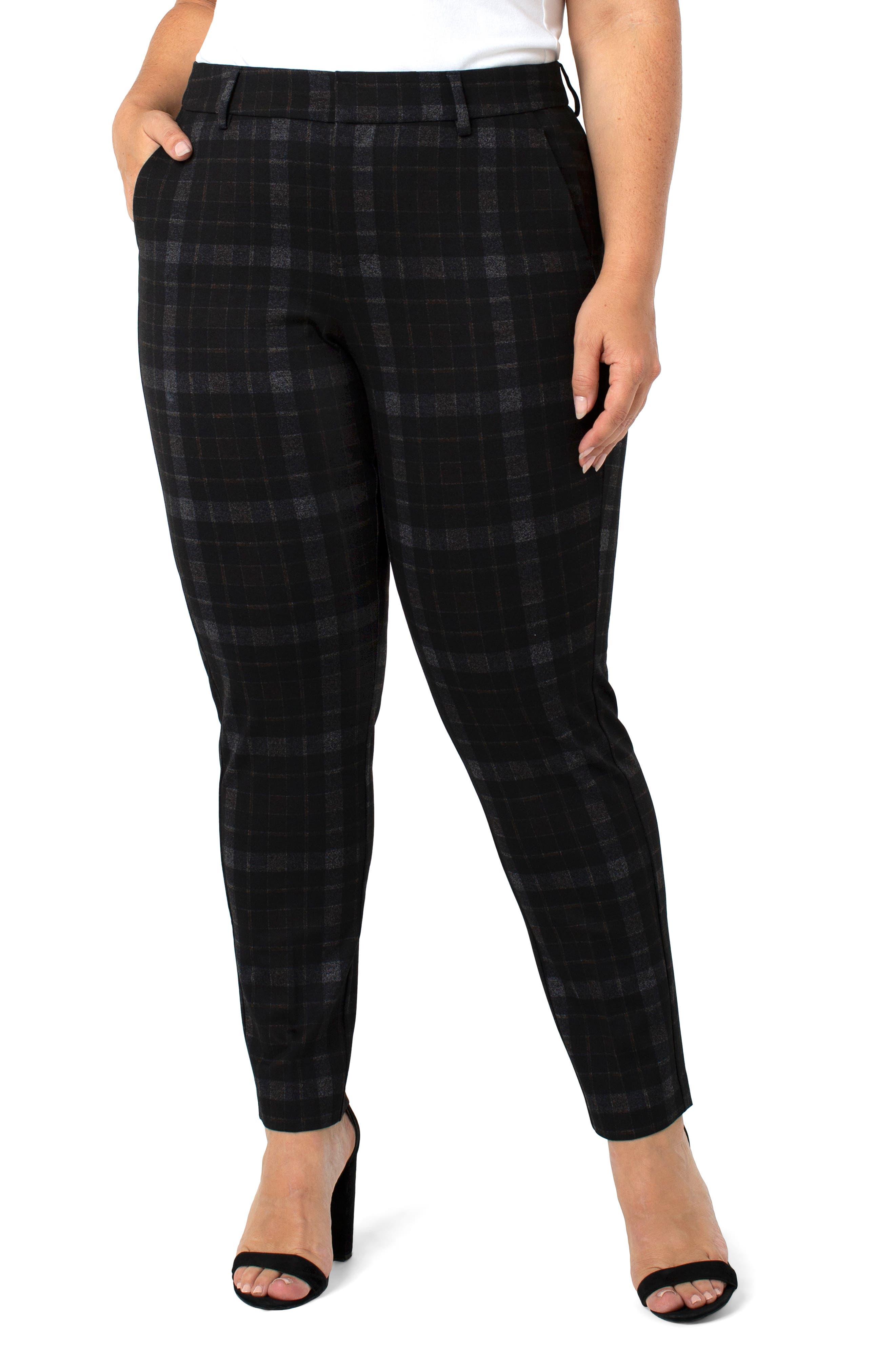 Kelsey Black Watch Tartan Knit Trousers