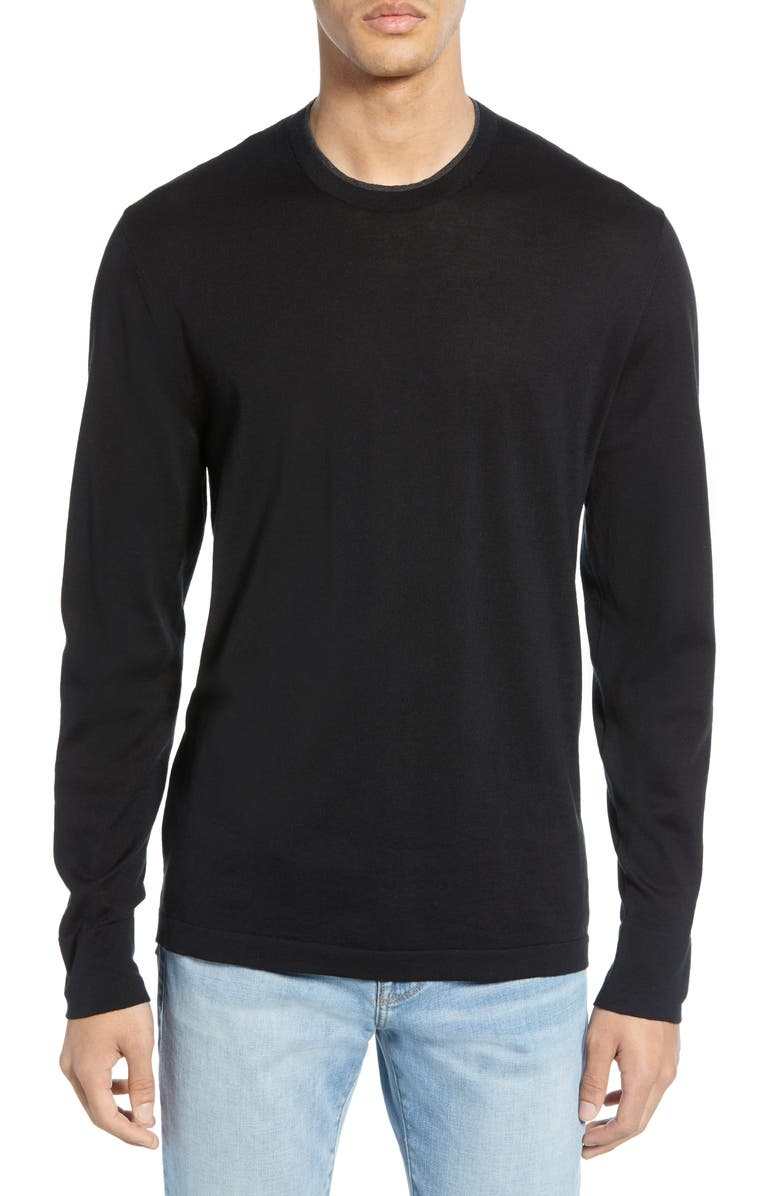 JAMES PERSE Slim Fit Cotton Crewneck Sweater, Main, color, 003