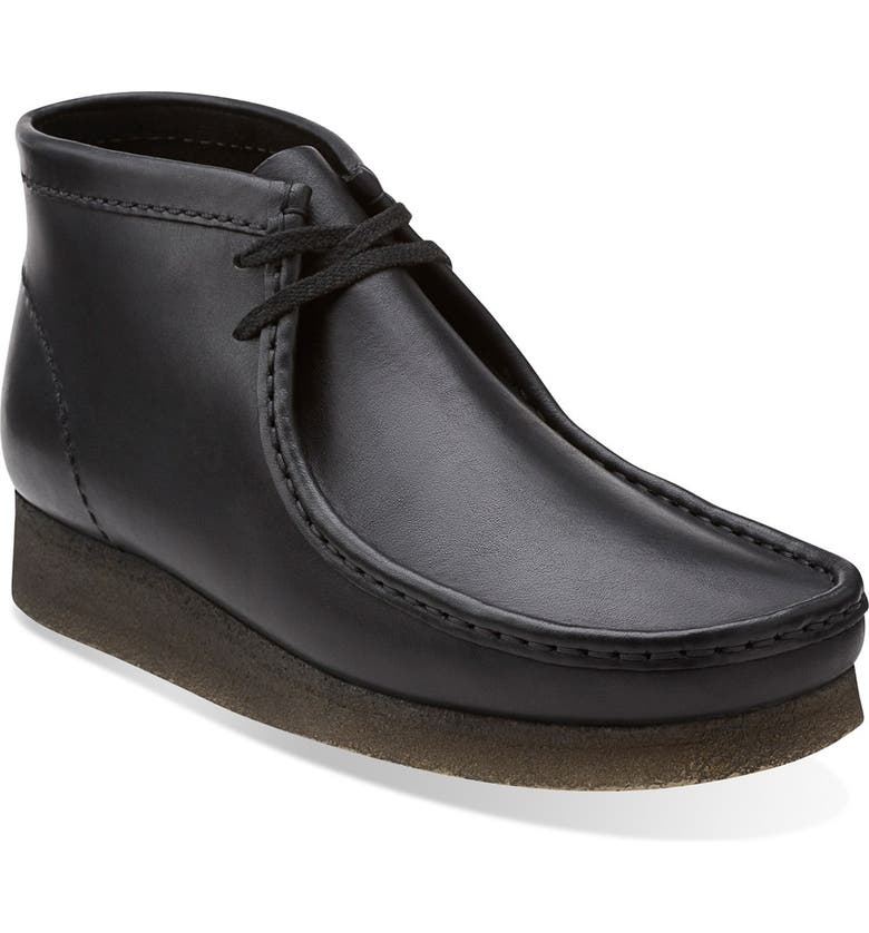 CLARKS<SUP>®</SUP> Originals Wallabee Boot, Main, color, BLACK