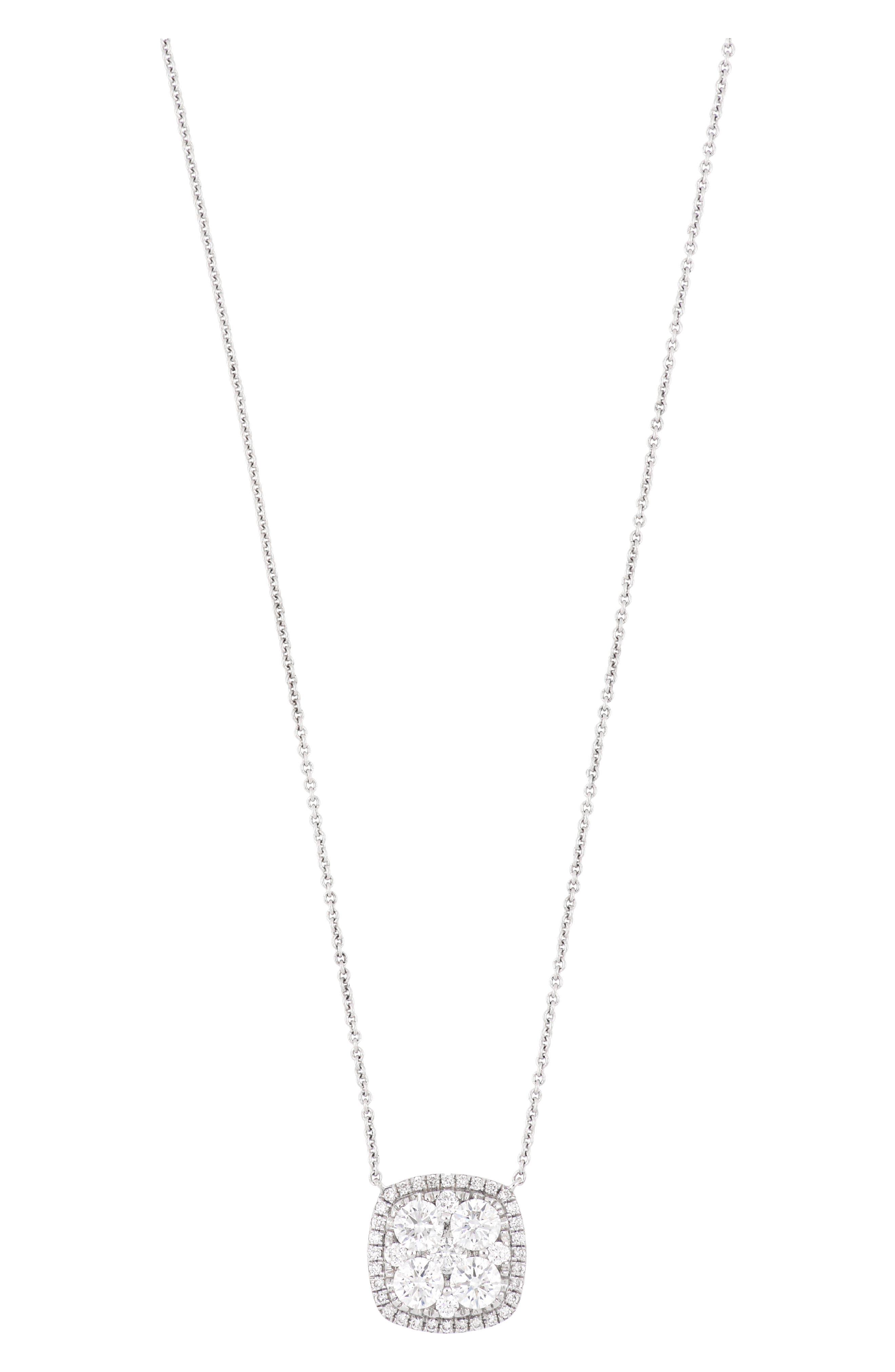Square Pave Diamond Pendant Necklace (Nordstrom Exclusive)