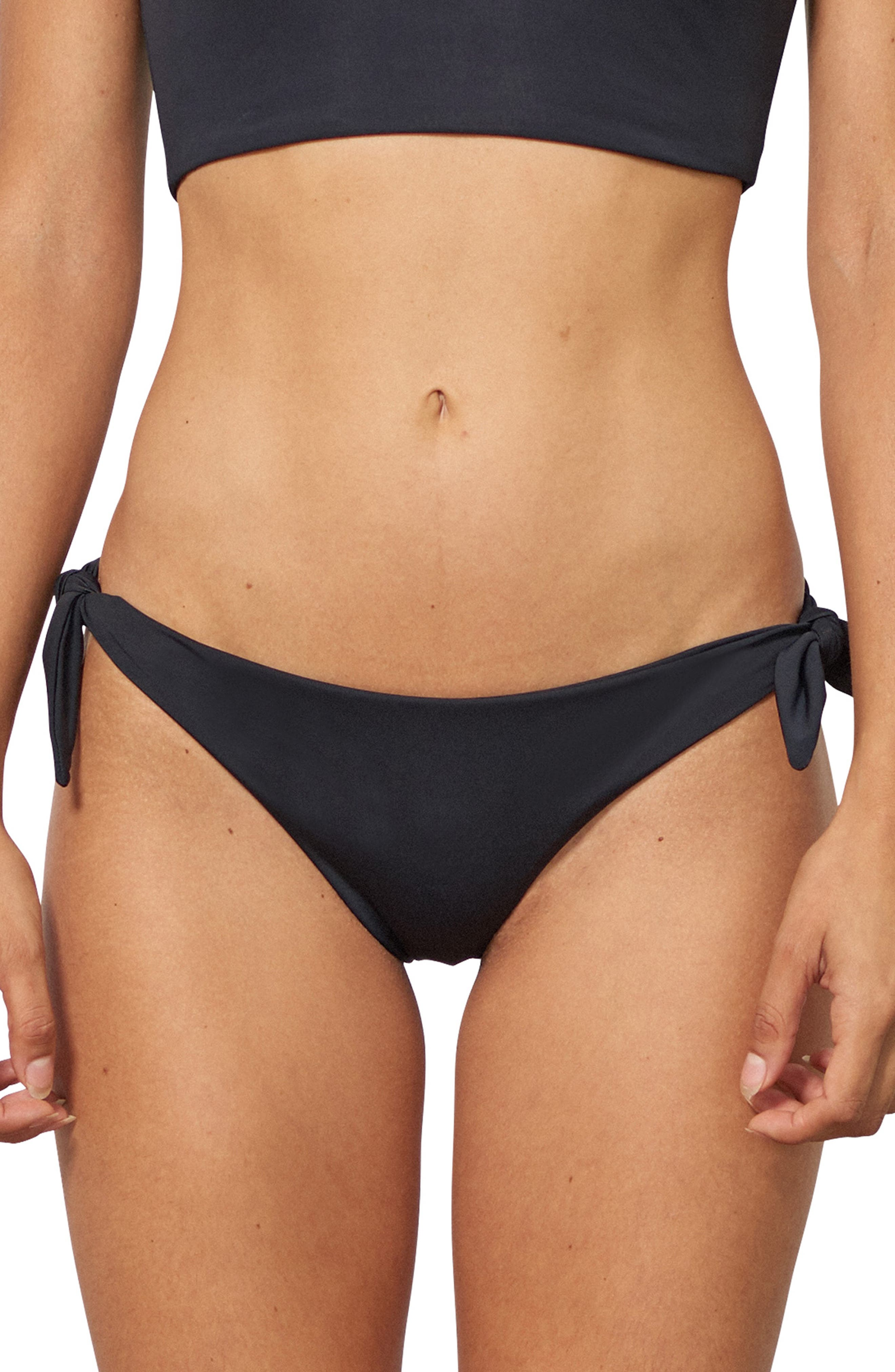 Mara Hoffman Sita Bikini Bottoms, Black