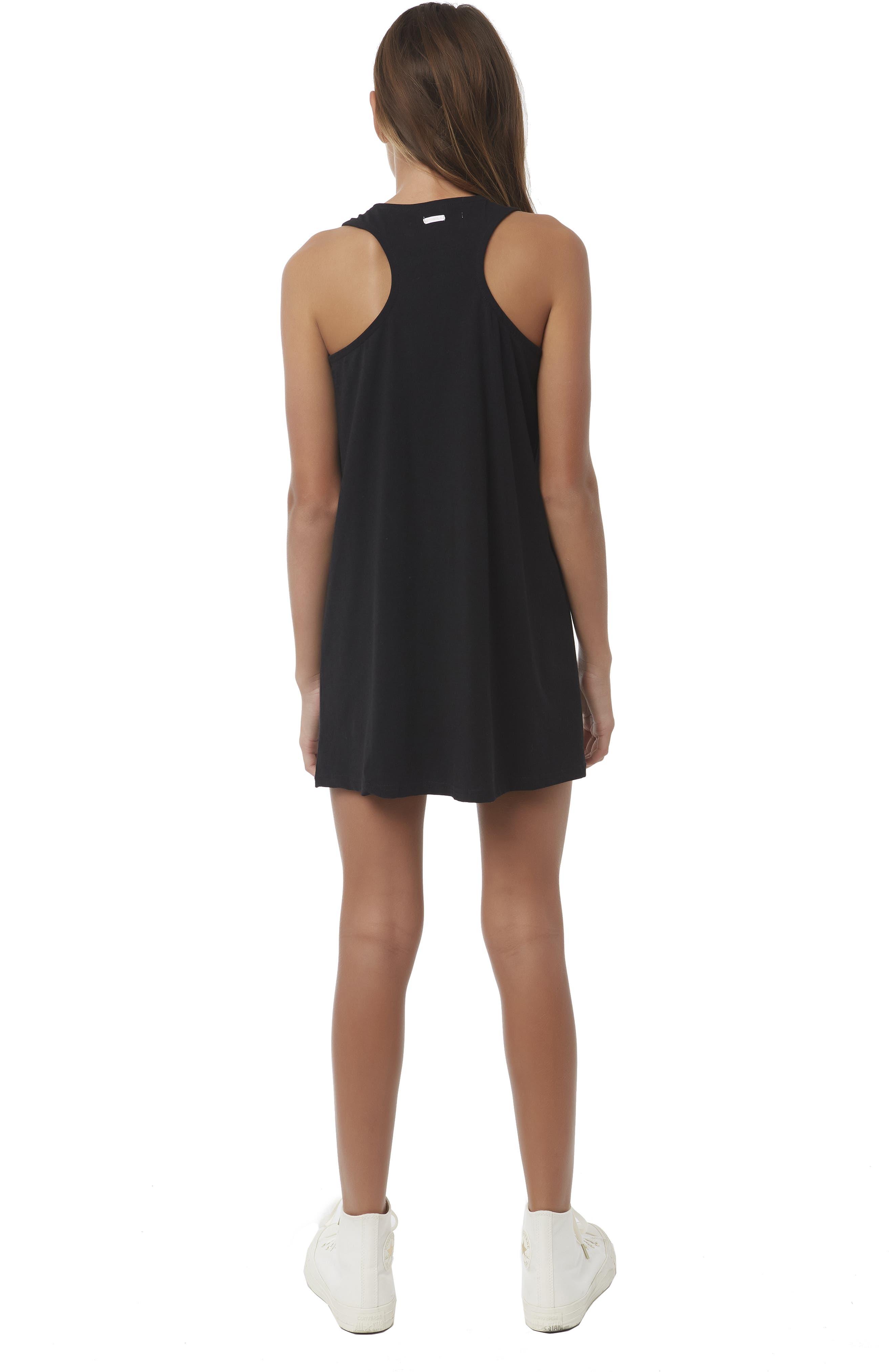 ,                             Cannon Knit Tank Dress,                             Alternate thumbnail 3, color,                             BLACK