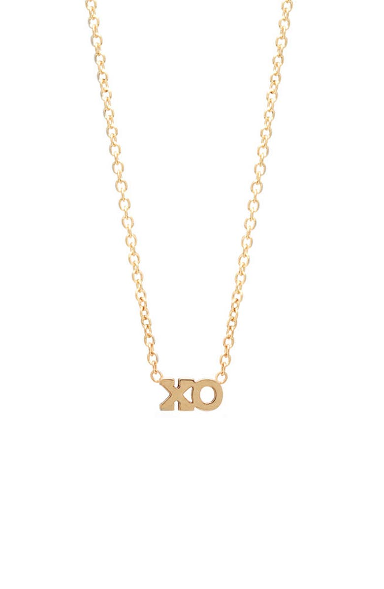 ZOË CHICCO XO Pendant Necklace, Main, color, YELLOW GOLD