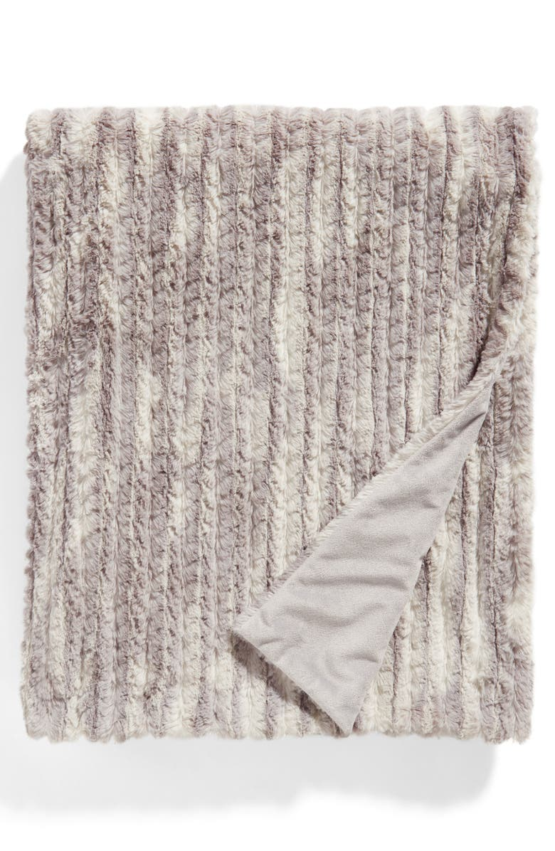 NORDSTROM AT HOME Faux Fur Throw Blanket, Main, color, 020