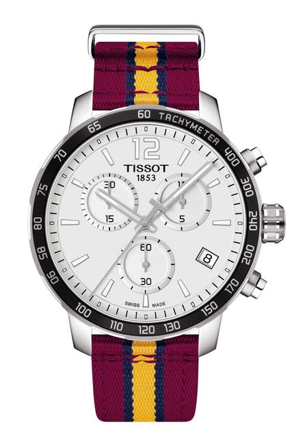 Image of Tissot Men's Quickster Chronograph NBA Cleveland Cavaliers Watch, 42mm