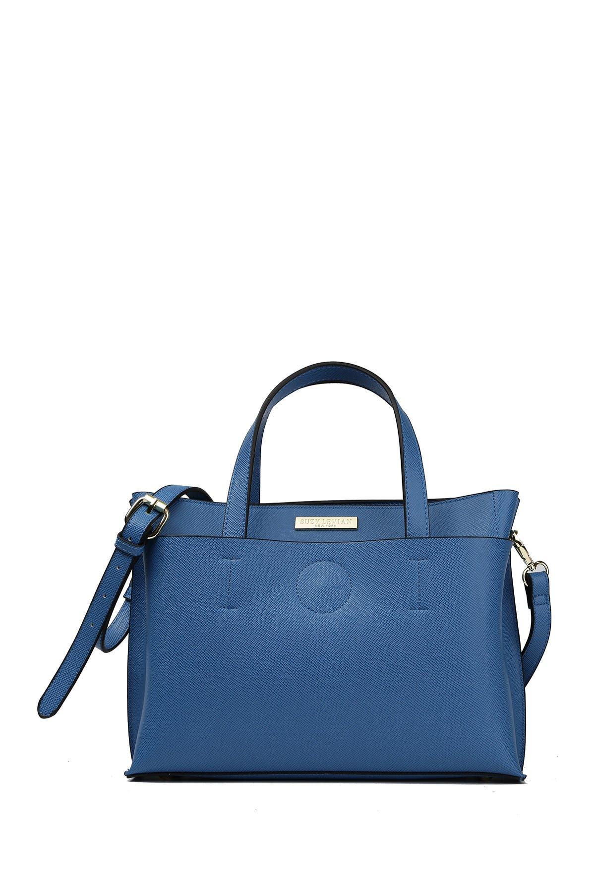 Image of Suzy Levian Saffiano Faux Leather Satchel