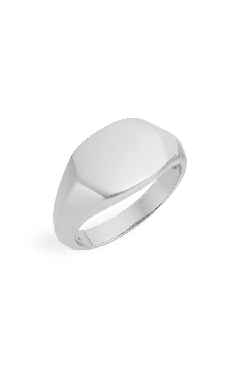 ARGENTO VIVO Signet Ring, Main, color, 040