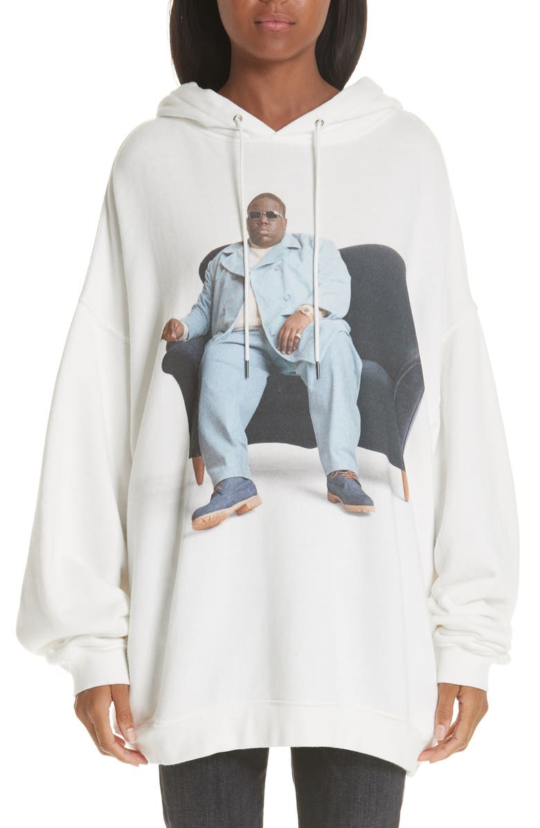 R13 Biggie Couch Hoodie, Main, color, 100