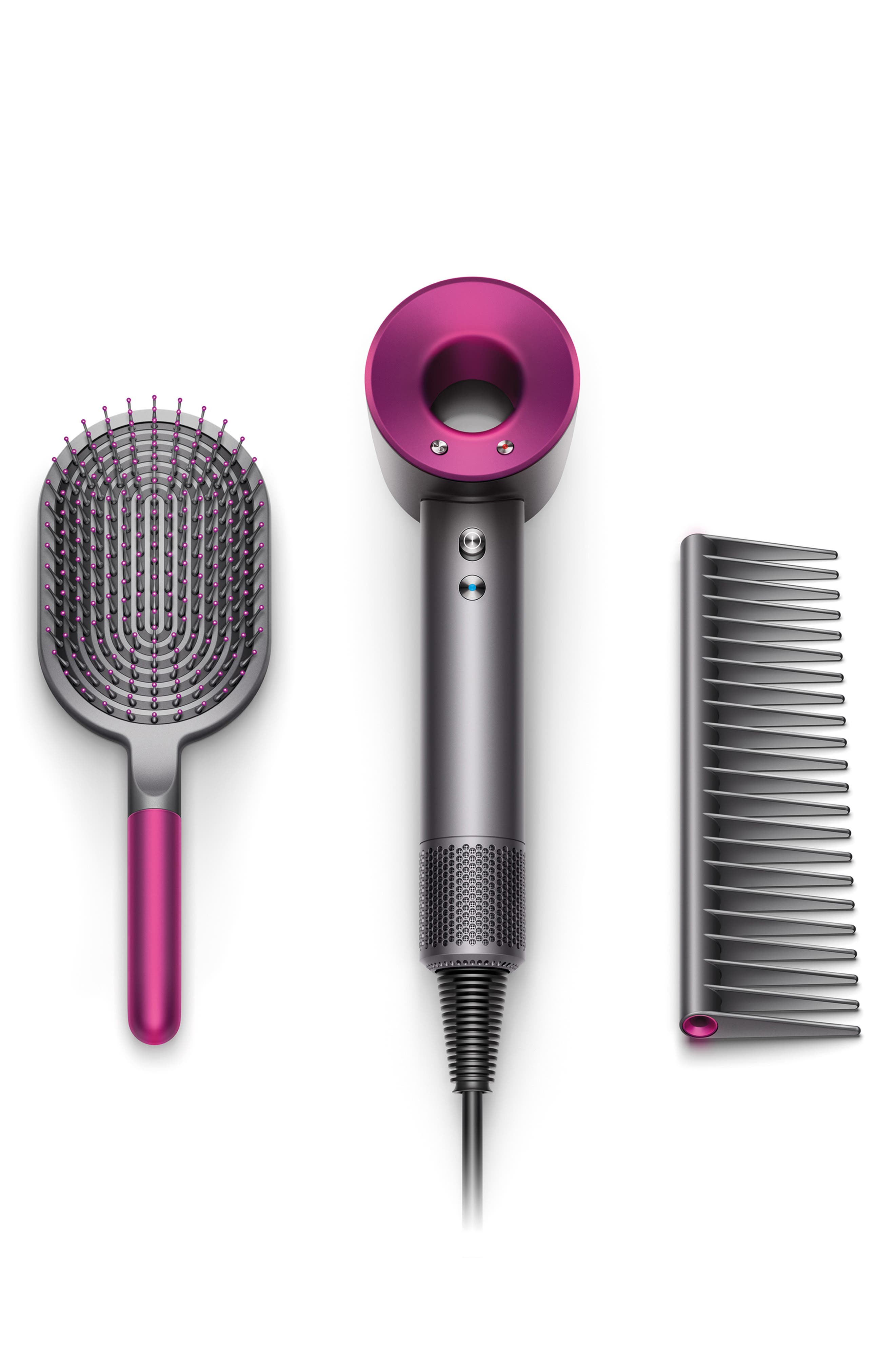,                             Supersonic<sup>™</sup> Hair Dryer, Detangling Comb & Paddle Brush Set,                             Main thumbnail 1, color,                             000